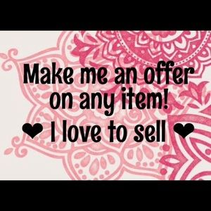 Feel free to make an offer!! I love sales :)